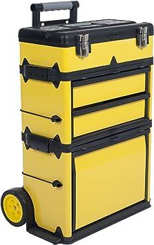 Stalwart 75-mj2096 Rolling carrito de apilamiento portátil Metal caja de herramientas en el pecho: Amazon.es: Bricolaje y herramientas