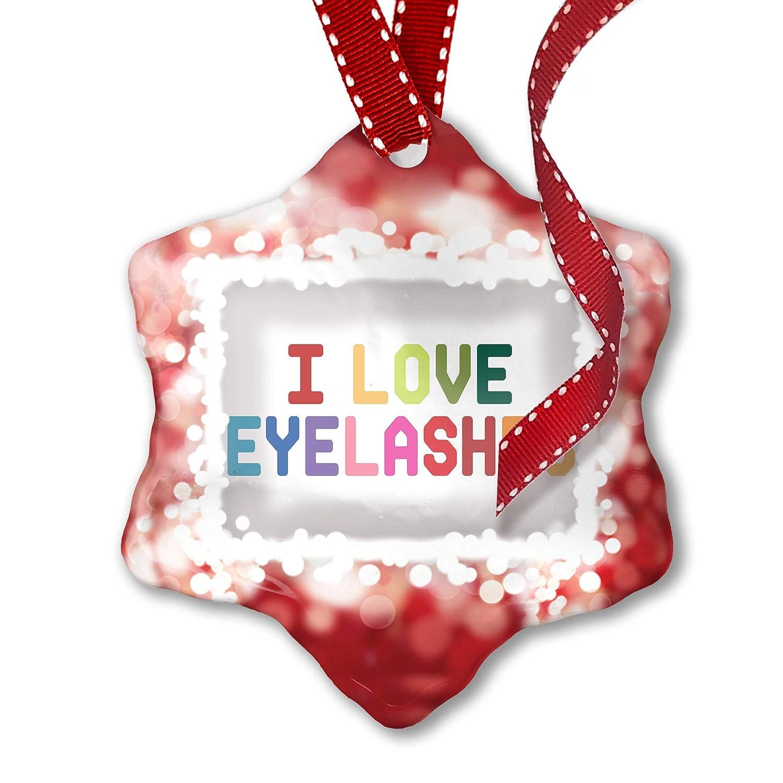 Amazon Neonblond Christmas Ornament I Love Eyelashescolorful