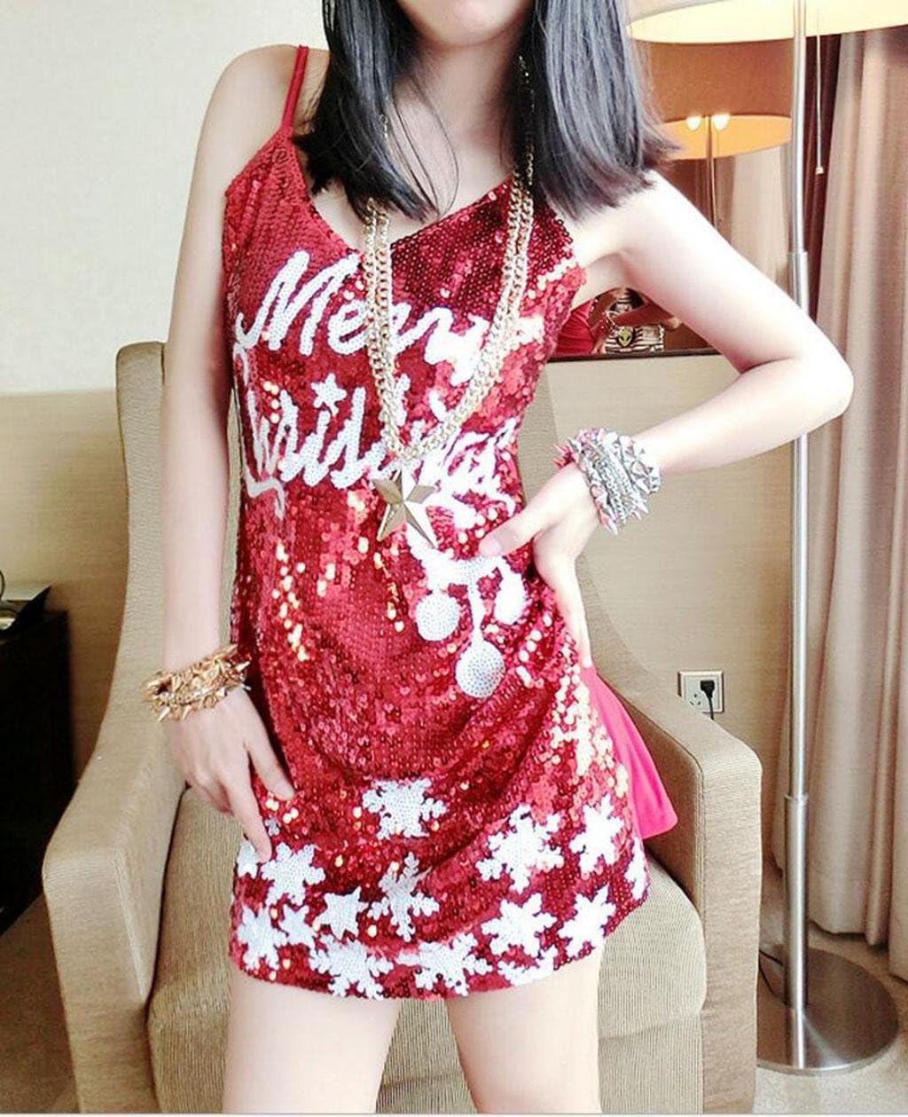 MFFACAI Disfraz de Santa Claus para Mujer Disfraz de Navidad Mini ...