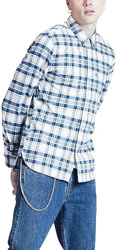 Camisa LeviS Sunset 1 Pocket Cuadros Azul Hombre Large Azul: Amazon.es: Zapatos y complementos