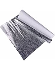 Oil-Proof Adhesive Sticker,Hmane Waterproof Aluminum Foil Sticker Kitchen Protector Cover - Silver