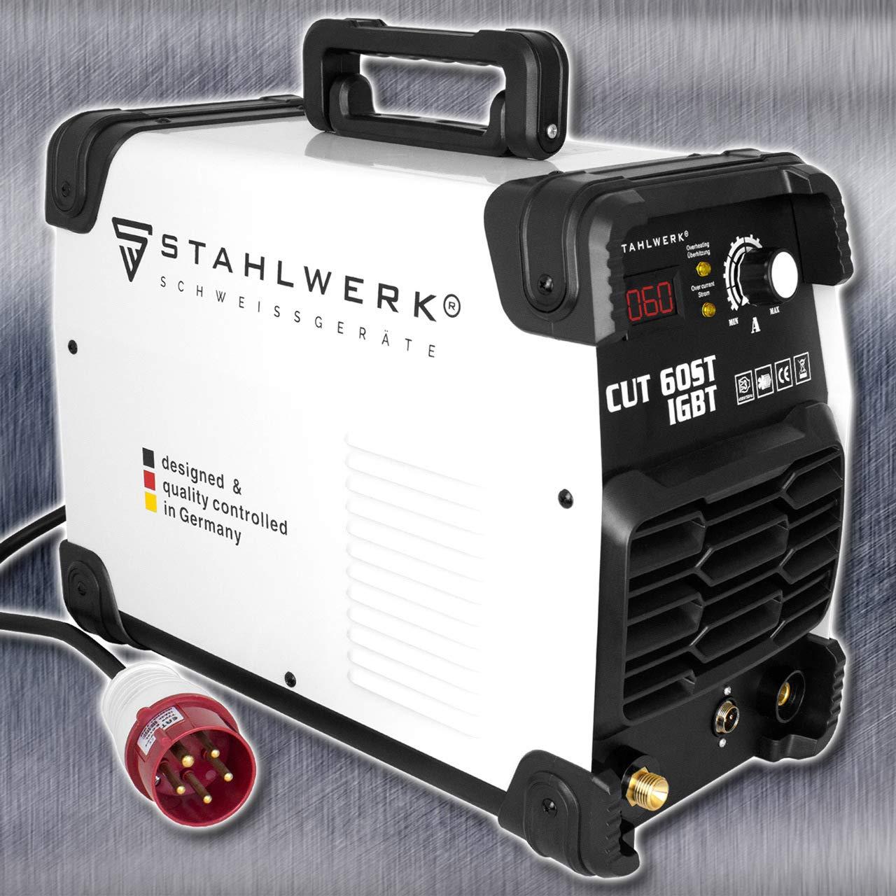 STAHLWERK CUT 60 ST IGBT - Cortador de plasma con 60 amperios, hasta 24 mm de potencia de corte, adecuado para chapas lacadas y óxido: Amazon.es: Bricolaje ...