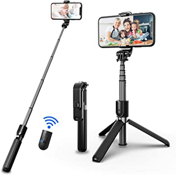 SYOSIN Perche Selfie Bluetooth, 3 en 1 Mini Trépied Smartphone Caméra Extensible Selfie Stick Monopode en Aluminium avec Télécommande sans Fil pour