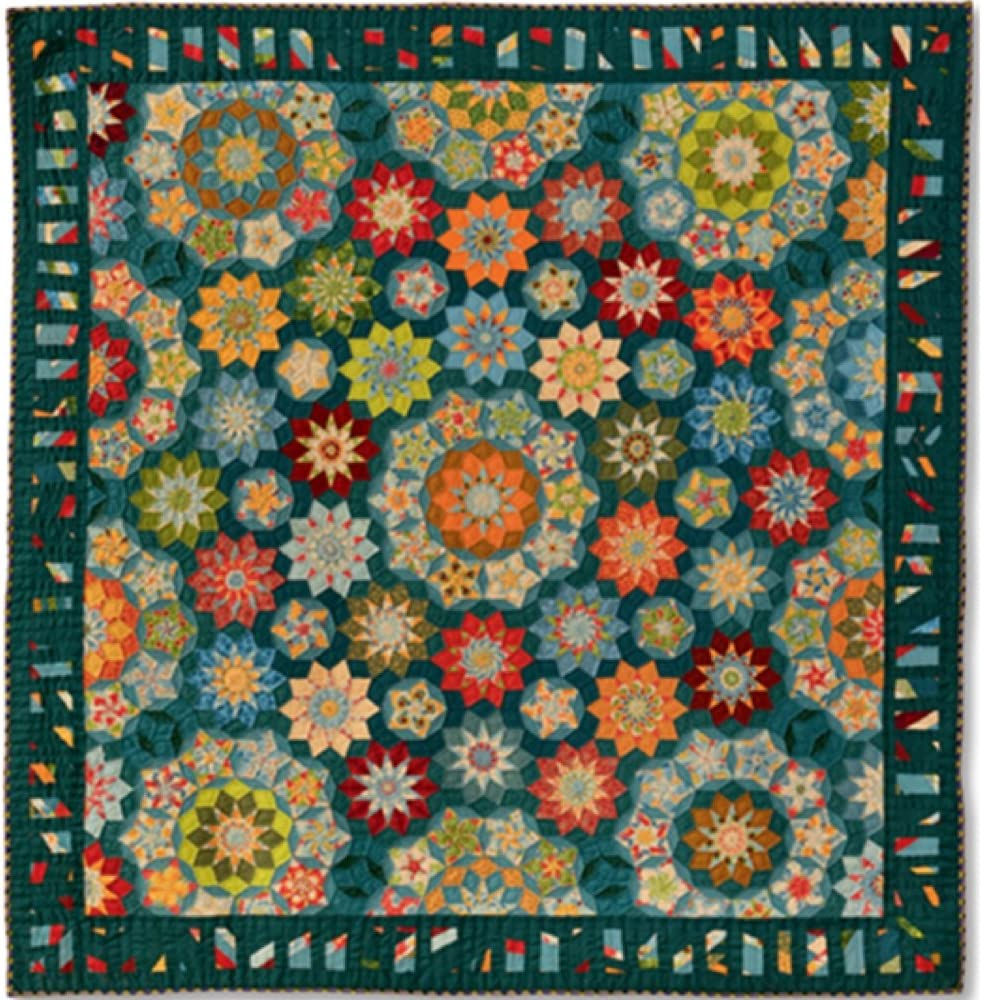 La Passacaglia Quilt Millefiori Quilts by Willyne Hammerstein Oversized 1//4 Templates and Papers