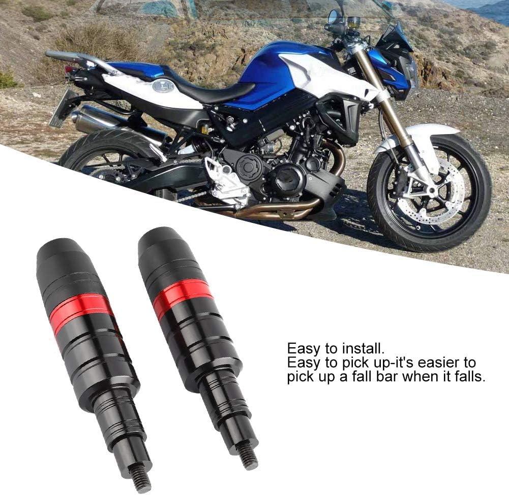 Hlyjoon Motorrad Sturzschutz Motorrad Crash Protector Sturzpads Universal Sliders Crash Pads Schutz Aluminiumlegierung ABS Kunststoff Schwarz