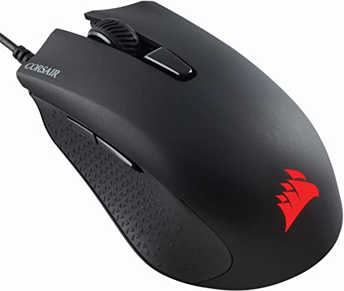 Corsair Harpoon RGB Optical Gaming Mouse (6,000 DPI Optical Sensor, 6 Programmable Buttons, RGB Multicolour Lighting, Lightweight) - Black