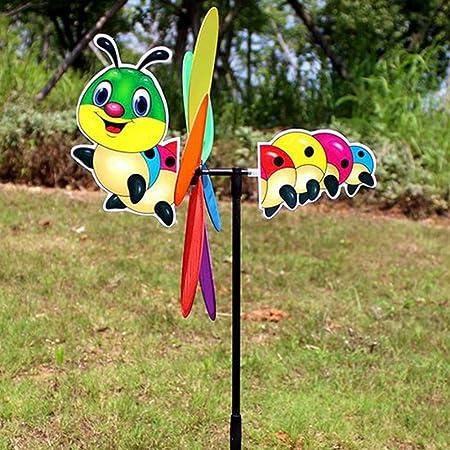 Molino de viento para el hogar, adorno divertido para niños, diseño de flores y mariposas RFID para decoración de jardines, jardín, jardín, patio, decoración (abeja) caterpillar As Picture Show: Amazon.es: Hogar
