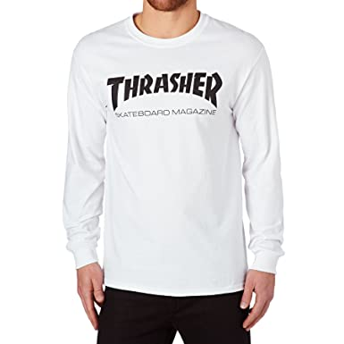 Thrasher Skate Mag Long Sleeve T-Shirt Small White
