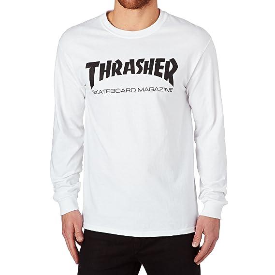 90517f6dbf9 Thrasher White Skate Mag Long Sleeved Shirt: Thrasher: Amazon.co.uk:  Clothing