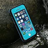 Levin iPhone 5 5S SE 6.6 ft Underwater Waterproof Shockproof SnowProof DirtProof Durable Full Sealed Protection Case Cover (Blue)
