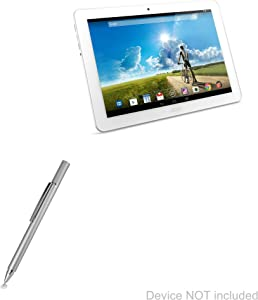 Acer Iconia Tab 10 A3-A20 Stylus Pen, BoxWave [FineTouch Capacitive Stylus] Super Precise Stylus Pen for Acer Iconia Tab 10 A3-A20 - Metallic Silver