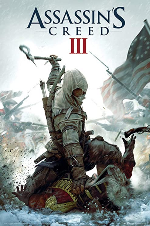 Assassin S Creed Batalla Xbox 360 Ps3 Video Game Poster 24 X 36 Inches Home Kitchen