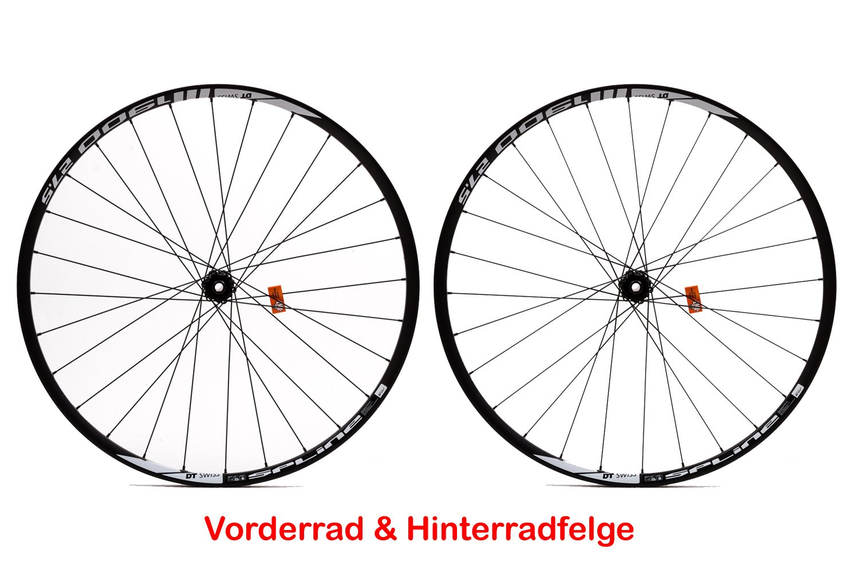 "27,5"" Zoll Fahrrad Laufrad Satz DT SWISS Vorder Hinter Rad 650B Felgen 584x19 schwarz"