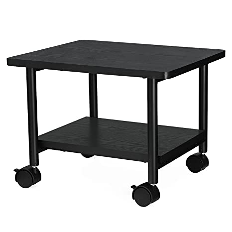 SONGMICS Under Desk Printer Stand And Mobile Machine Cart With Shelf Heavy  Duty Storage Rack For