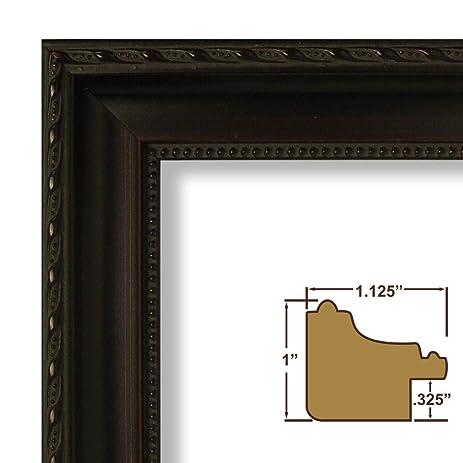 Amazon.com: 22x34 Picture / Poster Frame, Ornate Wood Grain Finish ...