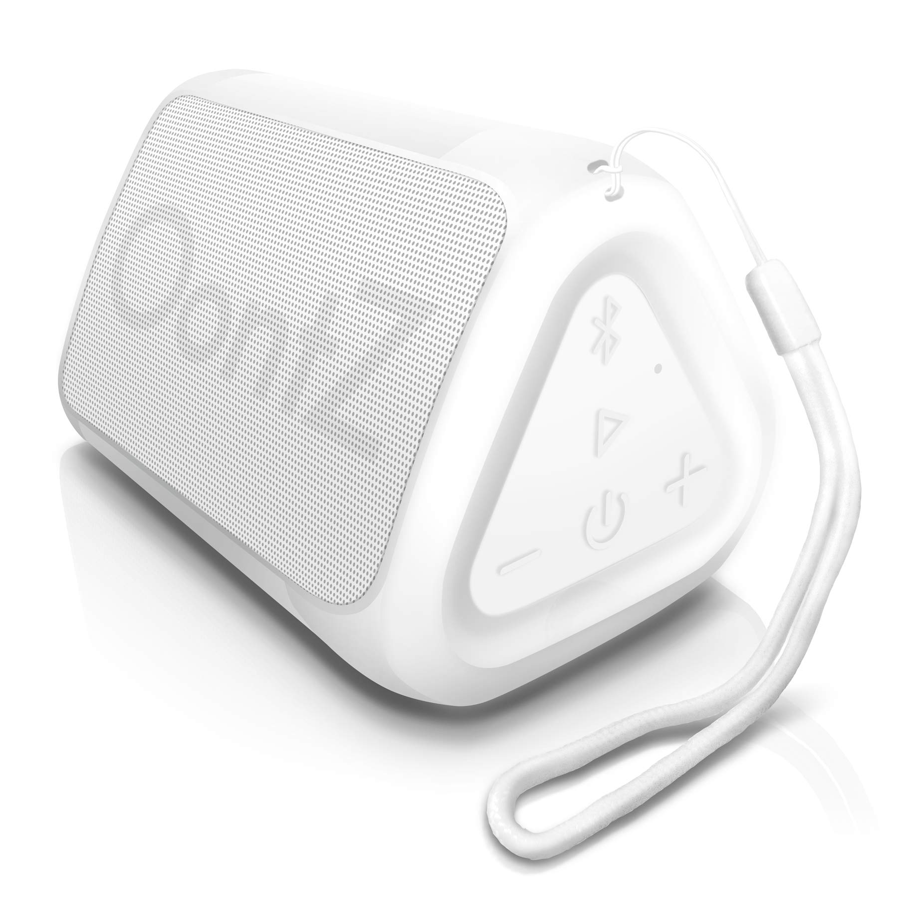 OontZ Angle Solo - Bluetooth Portable Speaker, Compact Size, Surprisingly Loud Volume & Bass, 100 Foot Wireless Range, IPX5, Perfect Travel Speaker, Bluetooth Speakers by Cambridge Sound Works (White) by Cambridge Soundworks