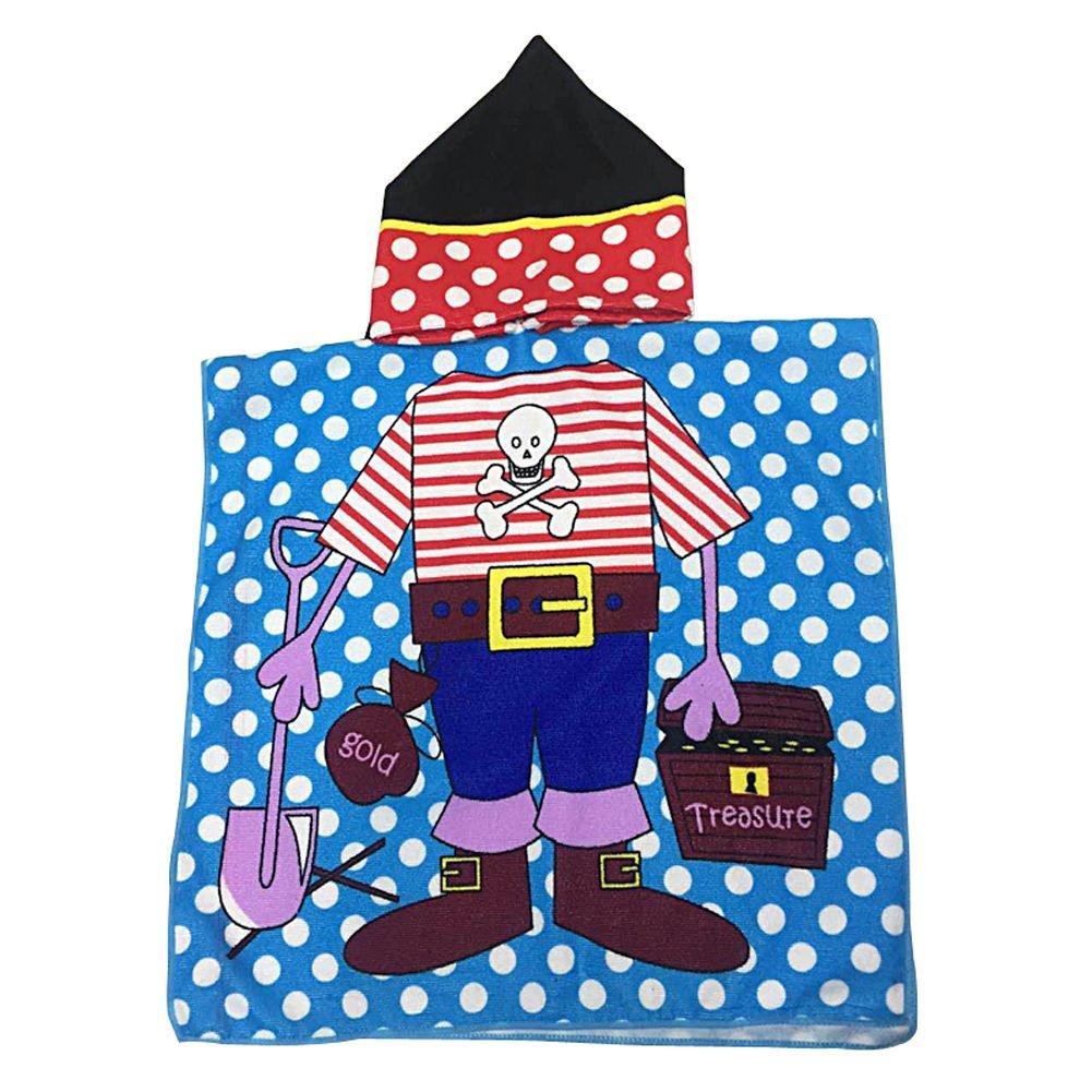 SF-world Baby Soft Cartoon Hooded Towel Children Swim Beach Bath Wear Kids Bathrob (boy)
