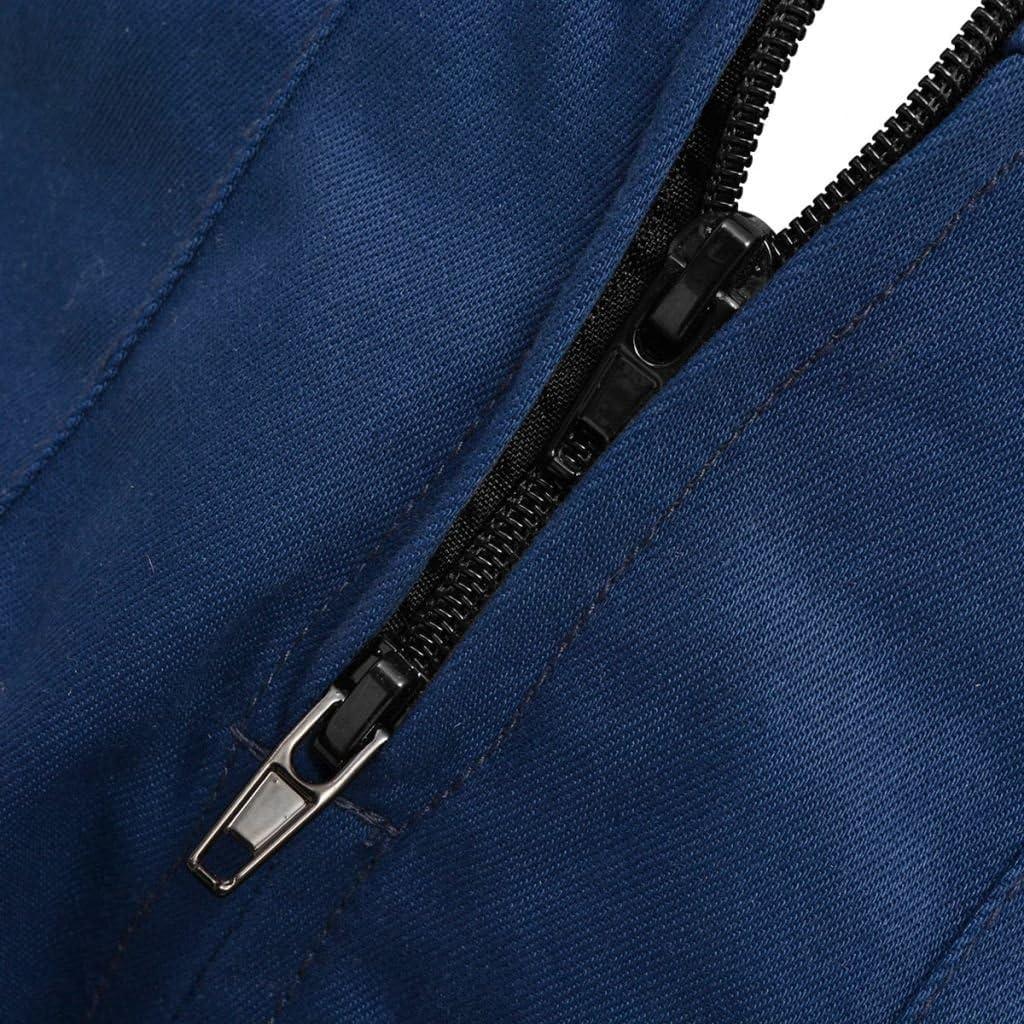 vidaXL Salopette per Bambini Blu//Grigio 3 Tasche e Fascia Elastica in Vita