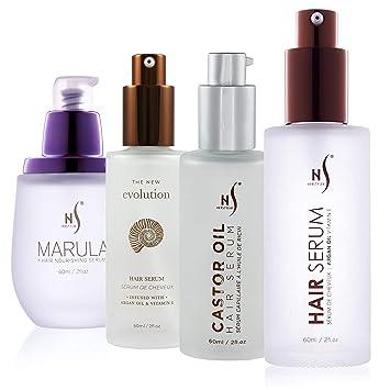 Amazon Com Herstyler Hair Repair Serum And Hair Growth Serum Argan Oil Marula Oil Castor Oil And Evolution 1 69 Fl Oz Set Of 4 Beauty