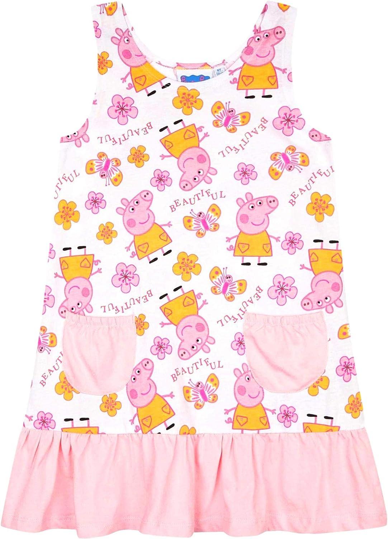 Lizenziert Peppa Pig Baumwollkleid für Mädchen IN Rosa Ärmellos