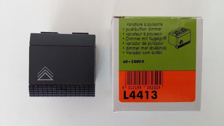 Bticino L4413 - Regulador de cargas resistivas y transformadores, 500 W, Living International 500W BTICINO SPA