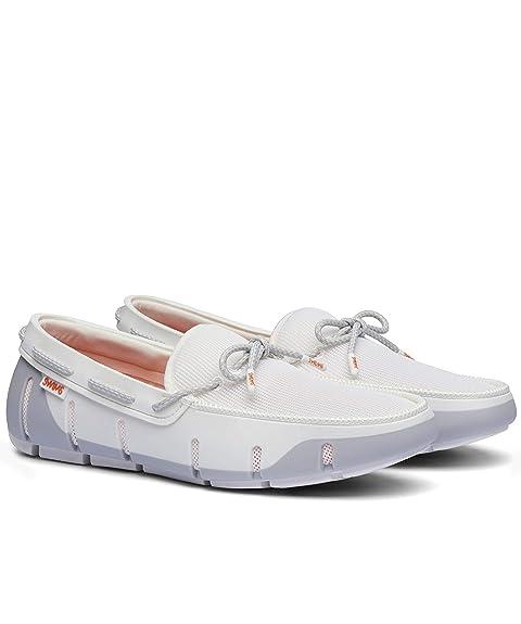 08c789f5 Swims Hombres Mocasines de Encaje de zancada Blanco: Amazon.es: Zapatos y  complementos