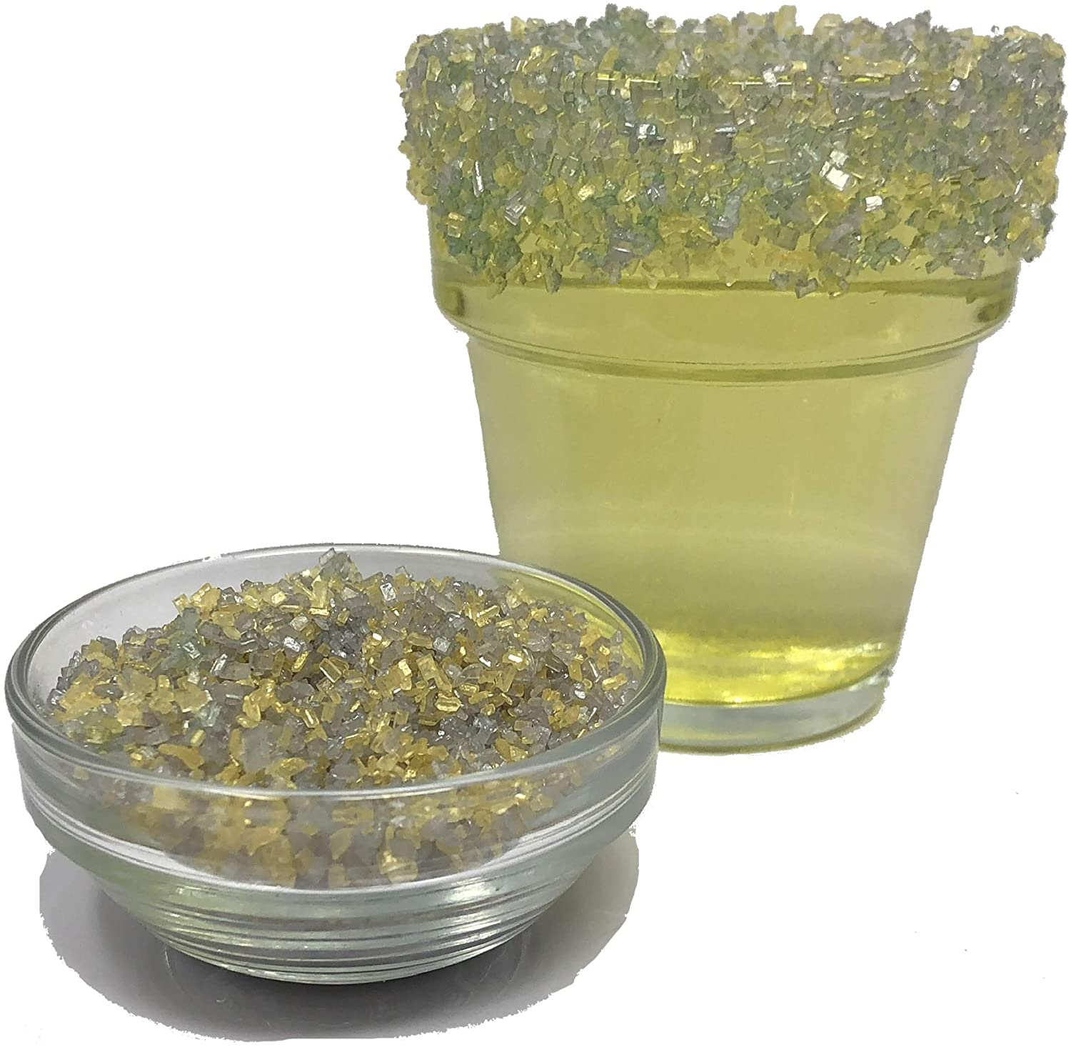 All Natural Kosher Gold and Silver Cocktail Rimmer Snowy River Jewels Cocktail Sugar 1lb, Jewels