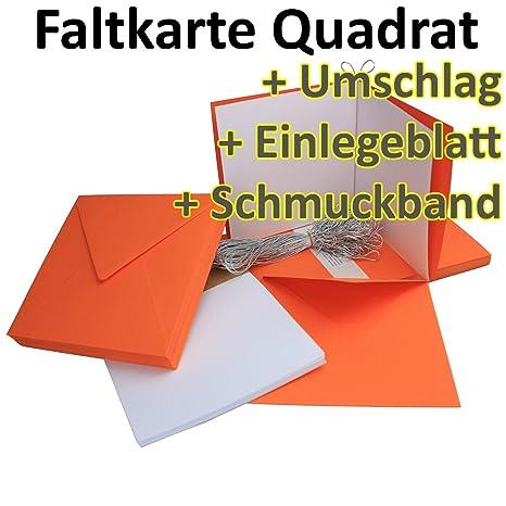 Plegable Tarjetas + sobres + Plantilla hojas + silbernes joyas banda cuadrado ...