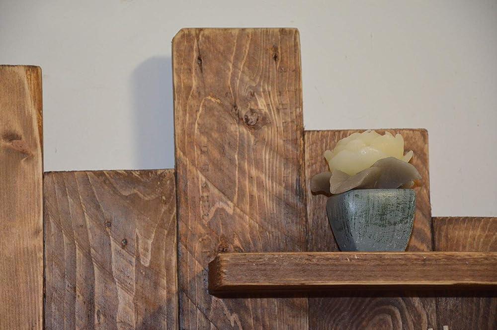 rustikal rahmen massivholz zur/ückgewonnene Palette holz H/ängeschrank altholz regal schwebend H/ölzern bibliothek holz schrankwand braun