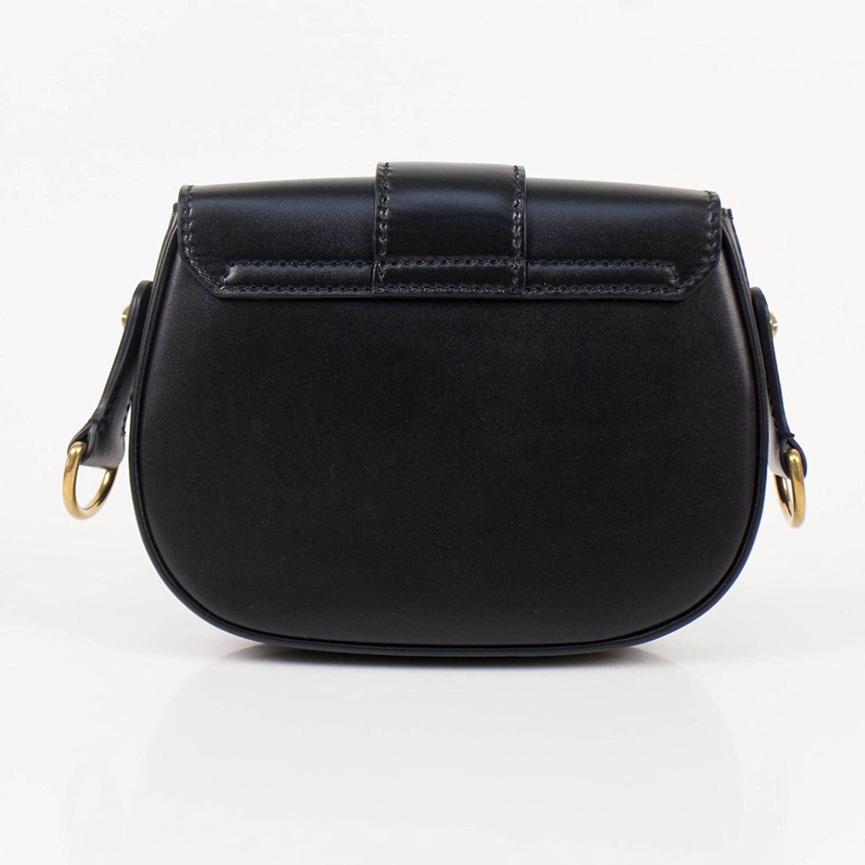Amazon.com  Christian Dior D-Fence Black Leather Saddle Hand Bag  Baby f9598ccdea92a
