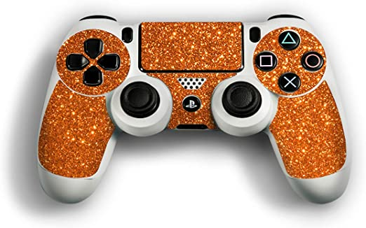 atFoliX Skin compatible con Sony Playstation 4 Controller PS4, Sticker Pegatina (FX-Glitter-Orange-Juice), Lámina de brillo reflectante: Amazon.es: Videojuegos