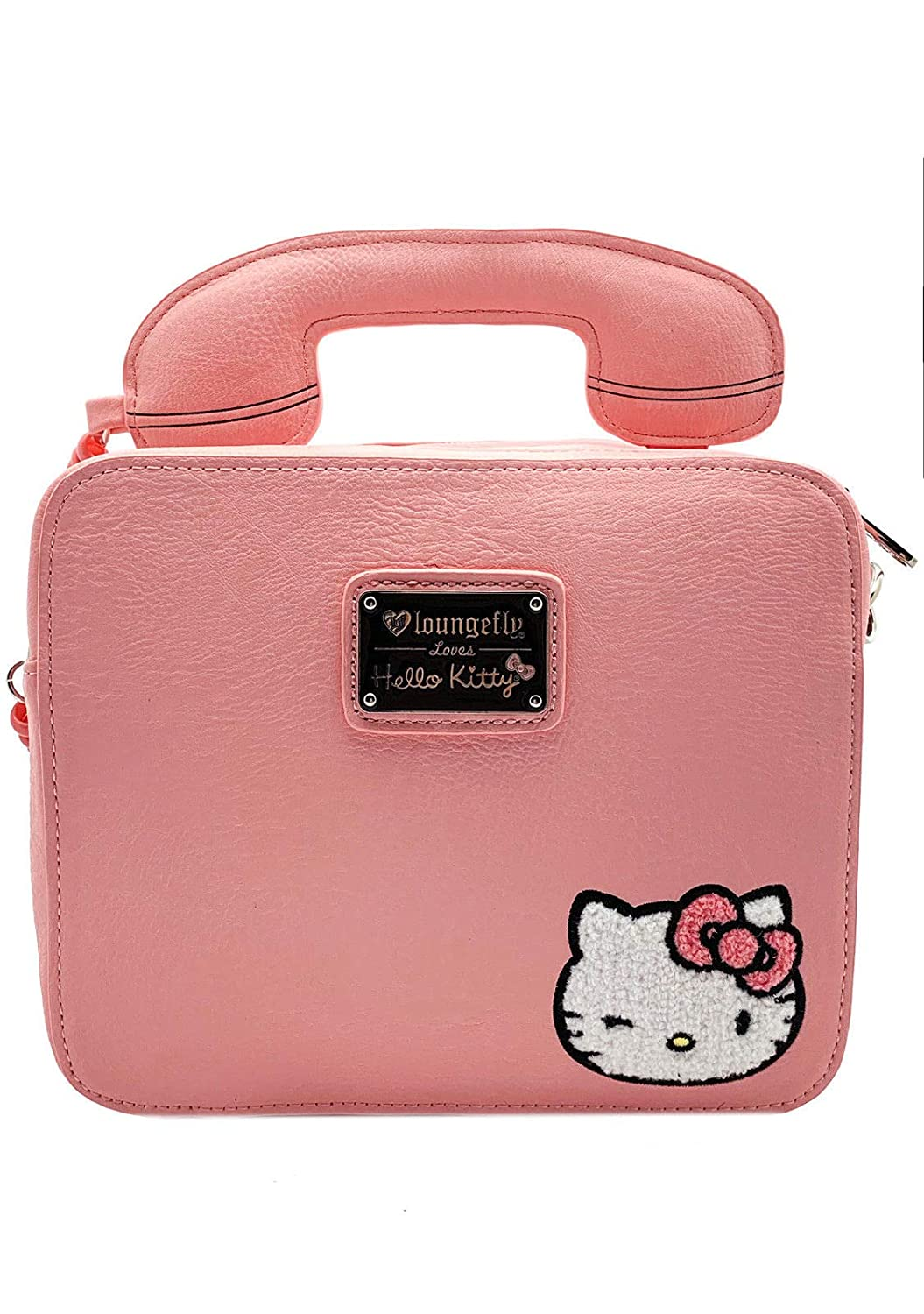 Amazon.com  Loungefly x Sanrio Hello Kitty Telephone Call Me Crossbody Purse  (One Size 66a7ff8fe1d45