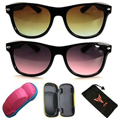2 Pairs Kids Boys Girls Smoke Lens Men Women Unisex Black Sunglasses Eyewear