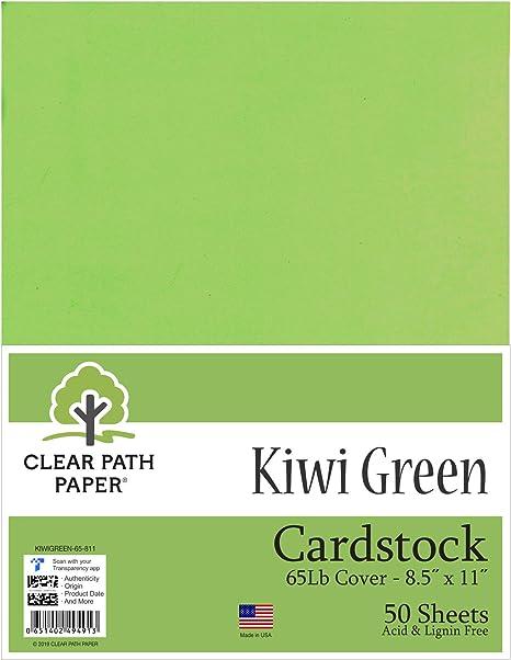 Kiwi® - Cartulina verde, 21,6 x 27,9 cm, 50 hojas: Amazon.es: Juguetes y juegos