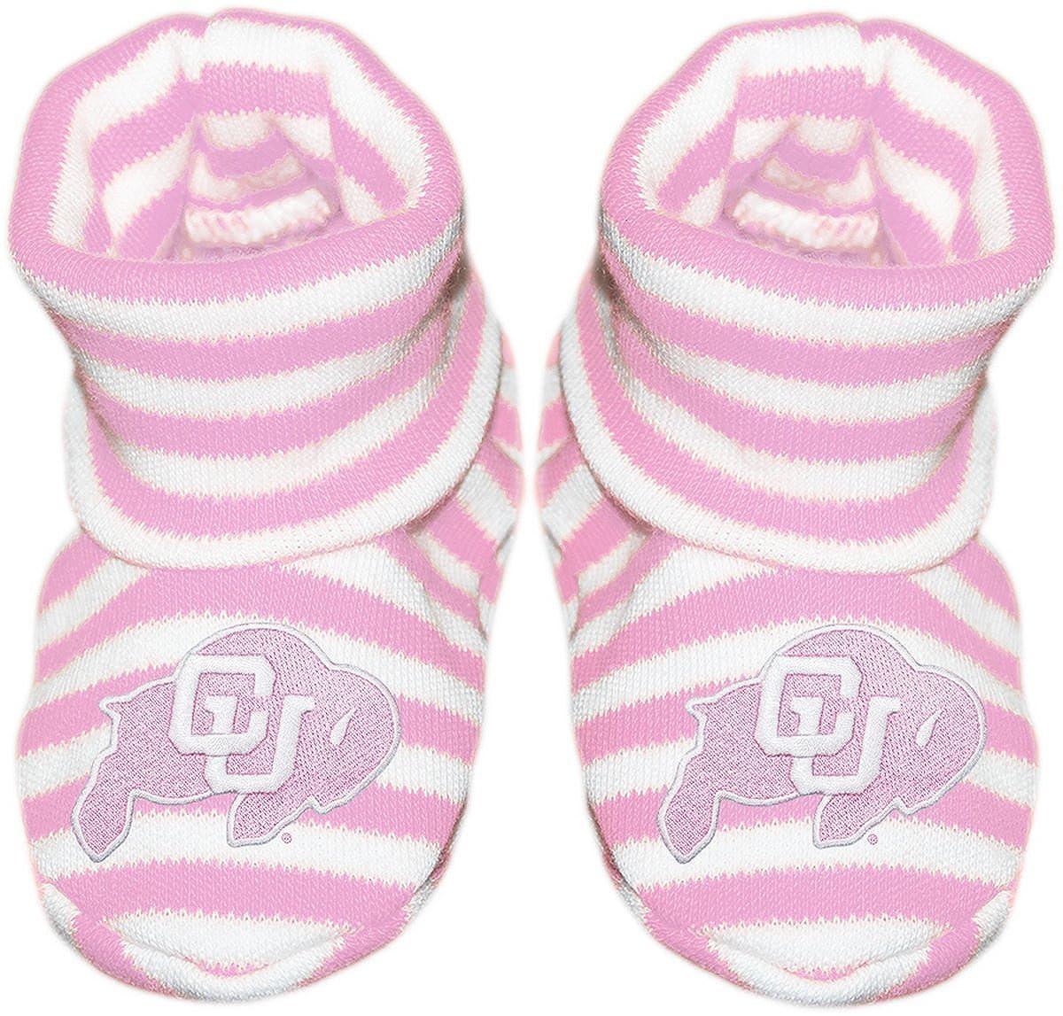 University of Colorado Buffaloes Newborn Baby Striped Bootie Sock