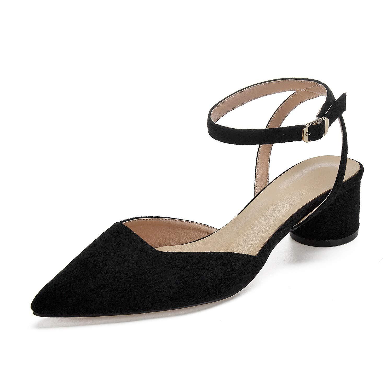 Zxstz Chaussures de soirée habillées pour de Satin de Printemps et d'été pour habillées Femmes Chaussures à Talons Pointus à Talons Hauts 38 Black f0f44d