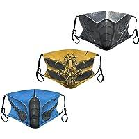 rilixuy 3pcs Cosplay Face Mask Reusable Adjustable Bandana for Men Women
