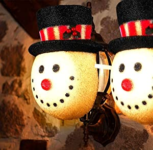 MAOYUE 2 Pack Christmas Decorations Outdoor Christmas Porch Light Covers Snowman Decorations Outdoor Light Covers for Porch Lights, Garage Lights, Large Light Fixtures, Outdoor Christmas Decorations