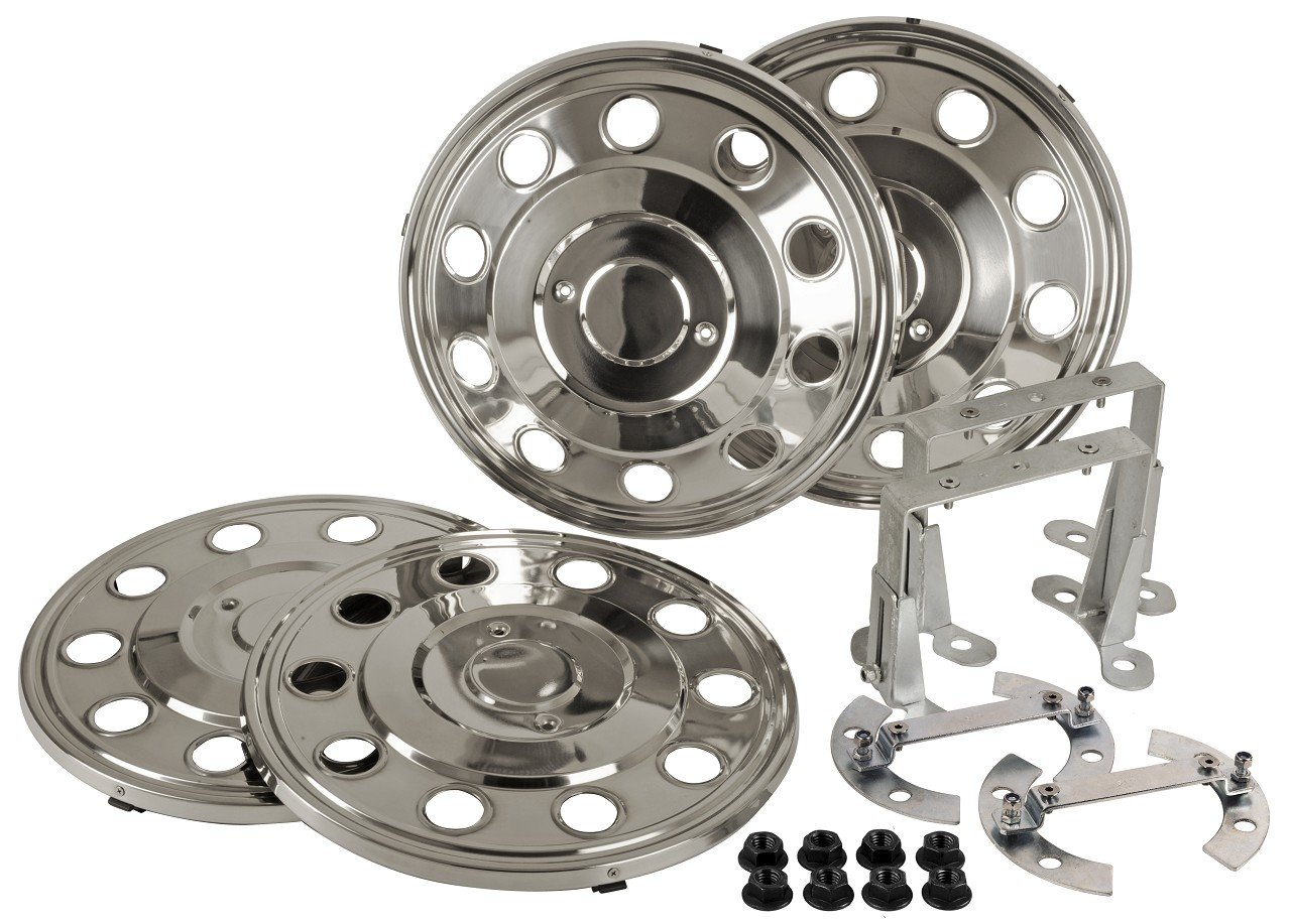 Juego de tapacubos 16 Acero inoxidable con ventilverlänergerung Vehículo con Zwilling Neumáticos con 6 agujeros Llanta (2001 - 2013) Automóviles: ...
