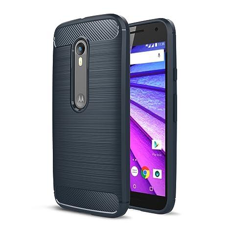 Funda Motorola Moto G3, CaseFirst Funda Cover Texture Carbon ...