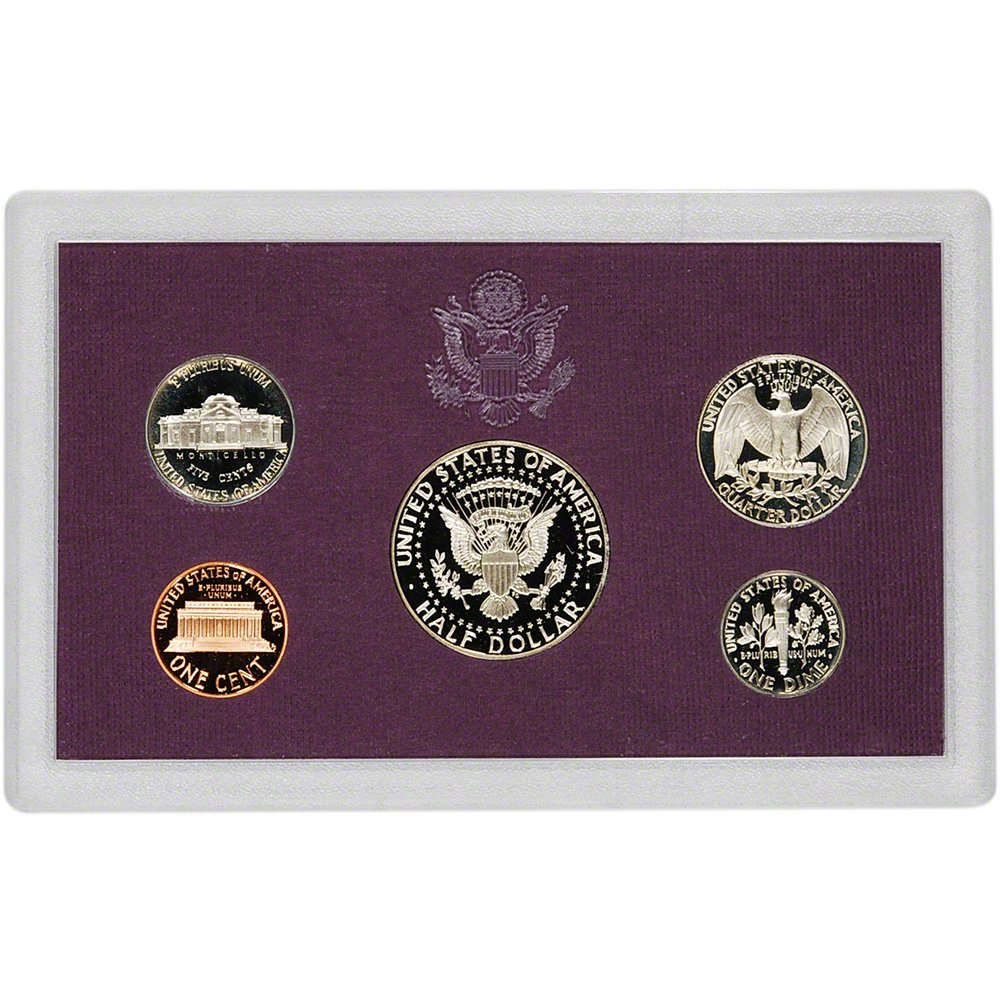 1988 S United States Proof Set coins in box