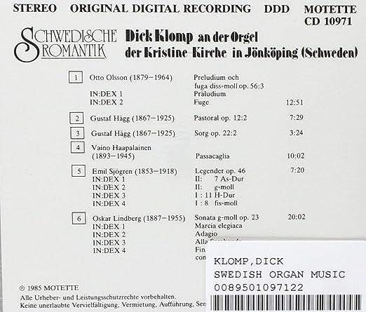 Swedish Organ Music: Amazon.co.uk: Music