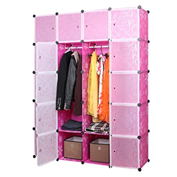 UNICOO   Multi Use DIY 20 Cube Organizer, Bookcase, Storage Cabinet, Wardrobe  Closet