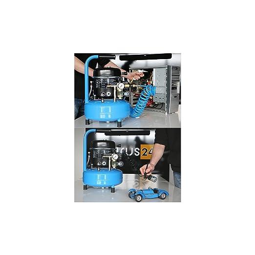 Impresión Aire - Compresor Silent 40 dB/0,5 PS/9 L/8 bar tipo L 9 - 75: Amazon.es: Bricolaje y herramientas