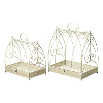 the farmers market decorative bird cages set of 2 table top centerpiece for treasures - Decorative Bird Cages
