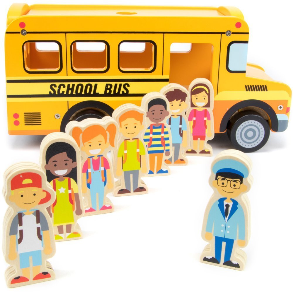 by-imagination世代Toys Playsets、8 Character Figures Back to School Bus Kidsプレイセットおもちゃ   B07F39H6PC