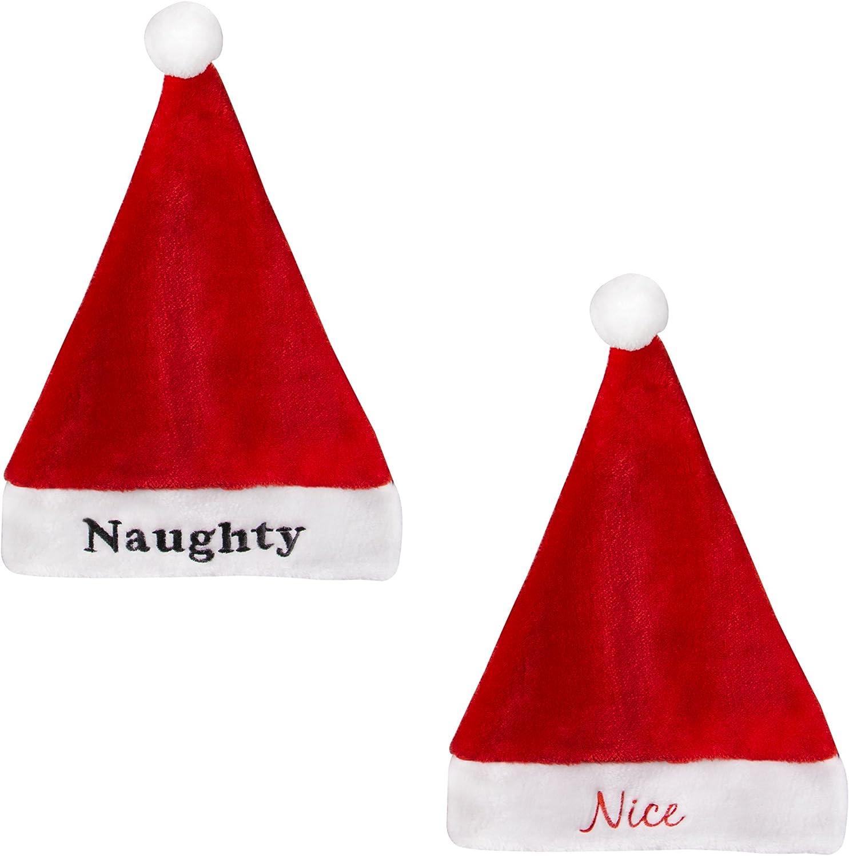 Sterling 22 Naughty//Nice Reversible Santa Hat Red