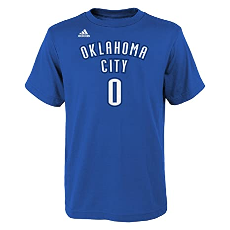 fb1932ad566 Amazon.com : adidas Russell Westbrook Oklahoma City Thunder Youth NBA Player  Blue T-Shirt : Clothing