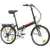"Bikesport FOLDING Bicicleta plegable ruedas de 20"" Shimano 6 velocidades"