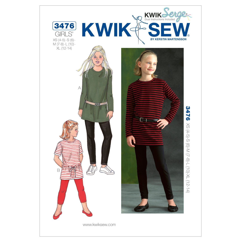 KwikSew Schnittmuster 3476 Kombi 4-14 104-156